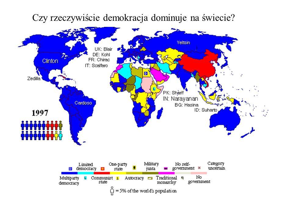 Czy rzeczywiście demokracja dominuje na świecie?