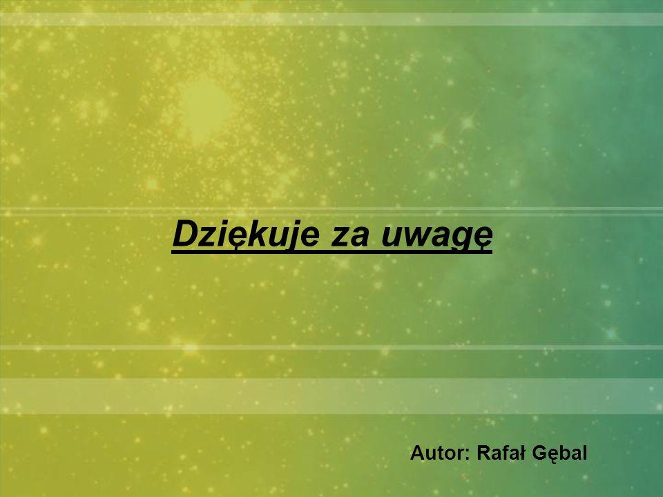 Autor: Rafał Gębal Dziękuje za uwagę