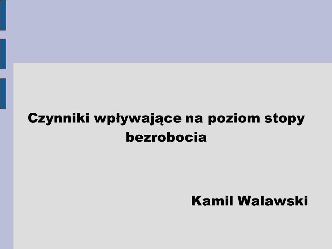 Czynniki wpływające na poziom stopy bezrobocia Kamil Walawski