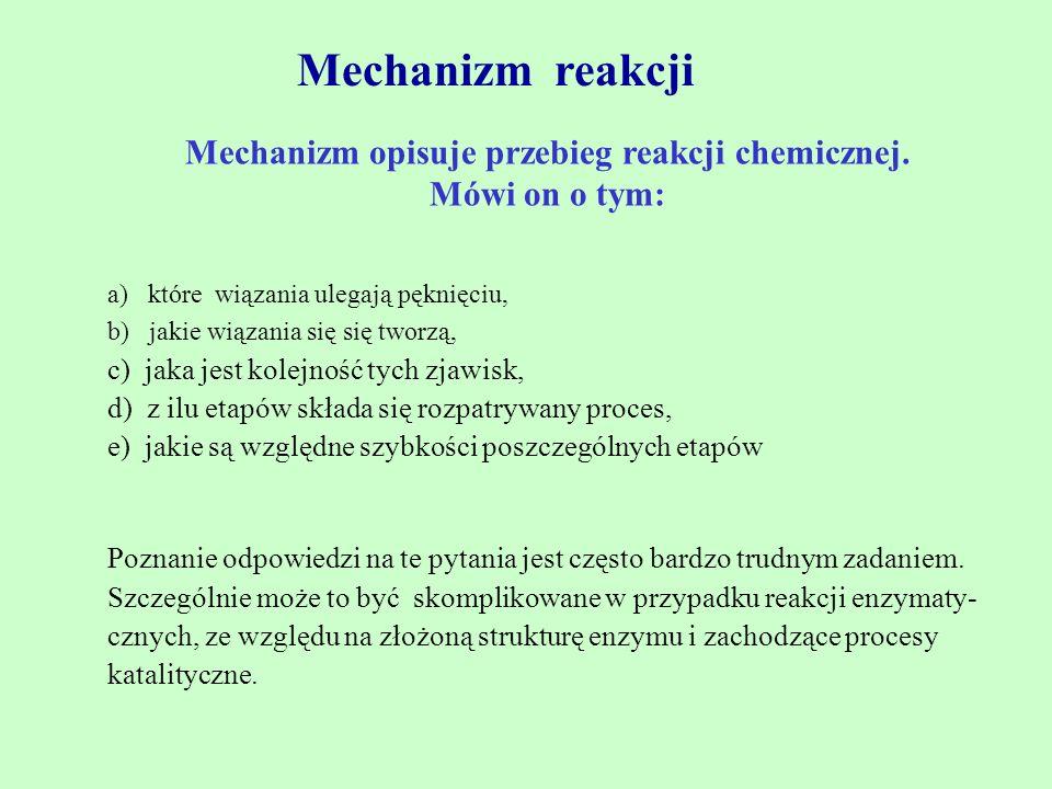 Metody wyznaczania mechanizmów reakcji 1.