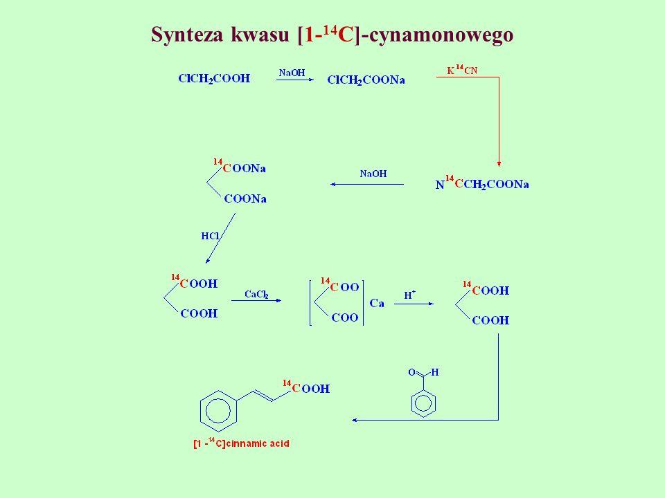 Synteza kwasu [1- 14 C]-cynamonowego