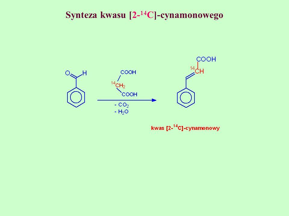 Synteza kwasu [2- 14 C]-cynamonowego