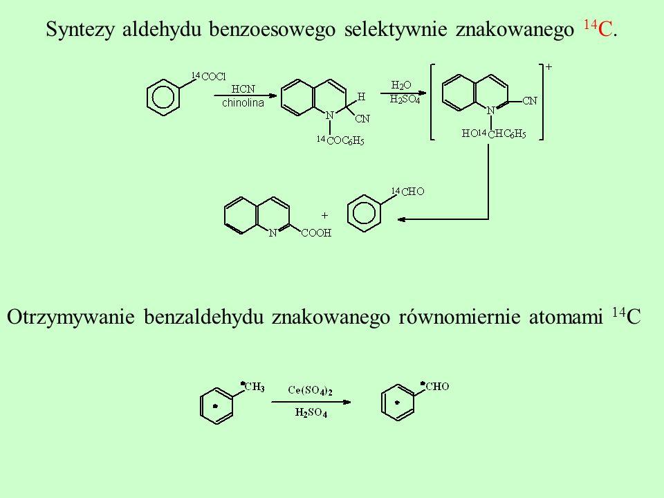 Otrzymywanie benzaldehydu znakowanego równomiernie atomami 14 C