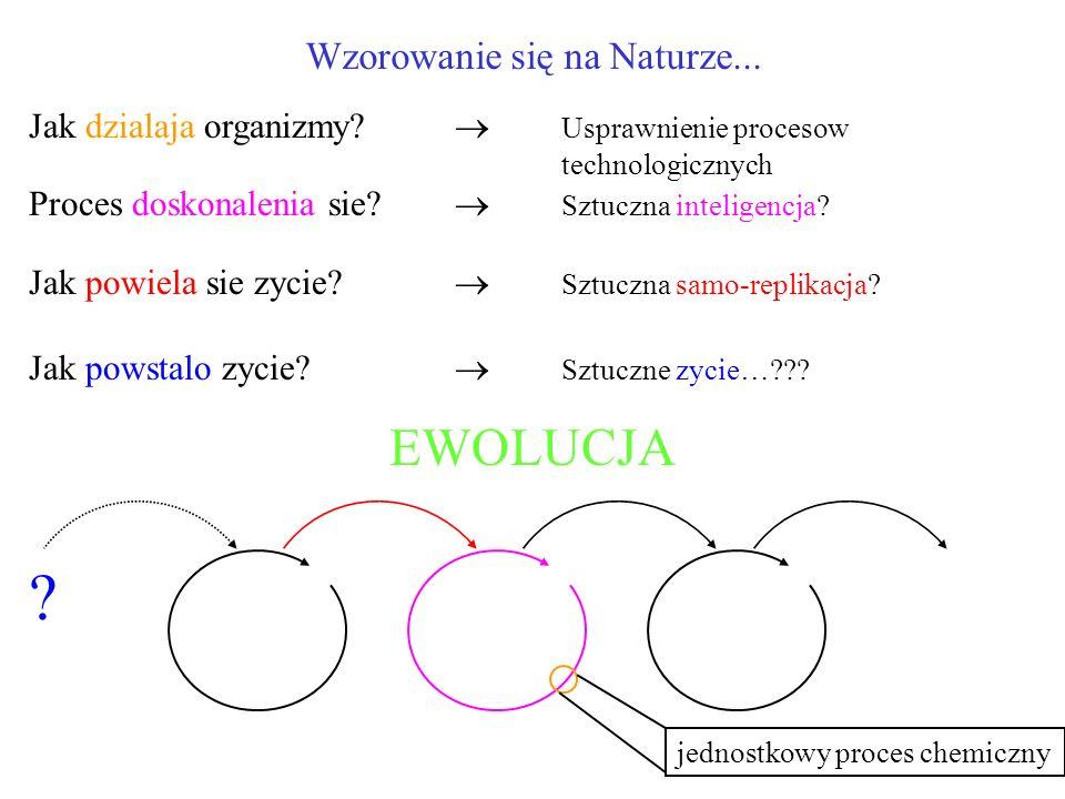 Wzorowanie się na Naturze... Jak dzialaja organizmy? Usprawnienie procesow technologicznych Proces doskonalenia sie? Sztuczna inteligencja? Jak powiel