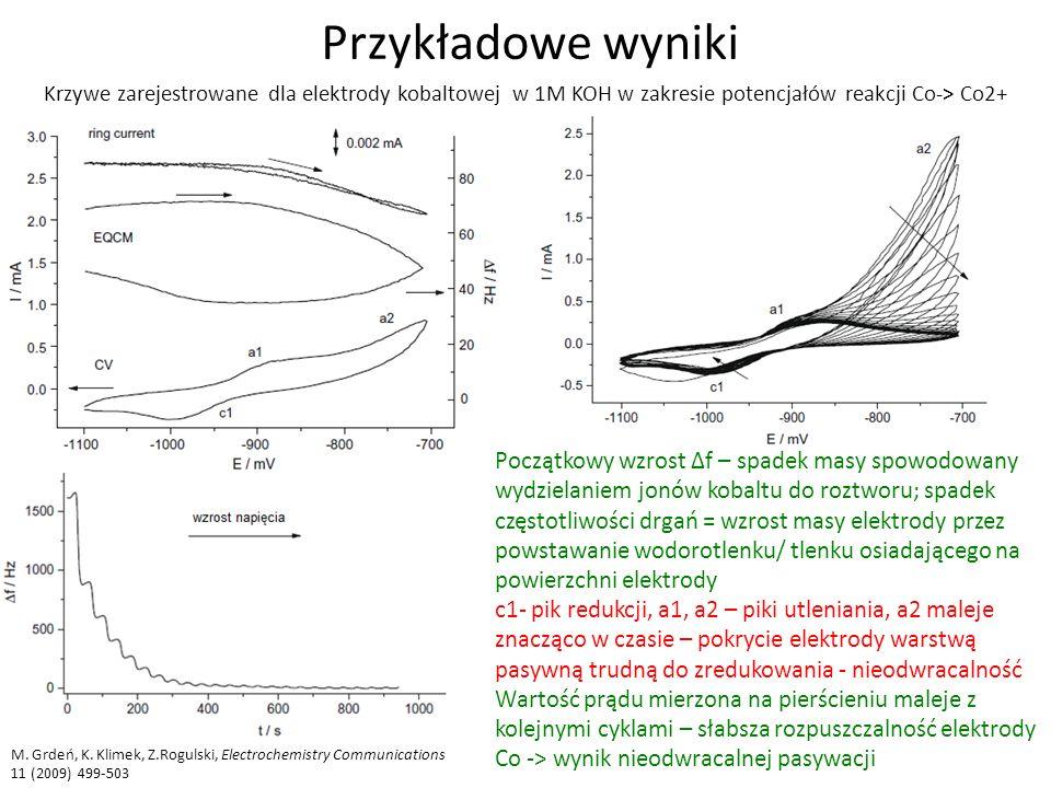 Przykładowe wyniki M.Grdeń, K.