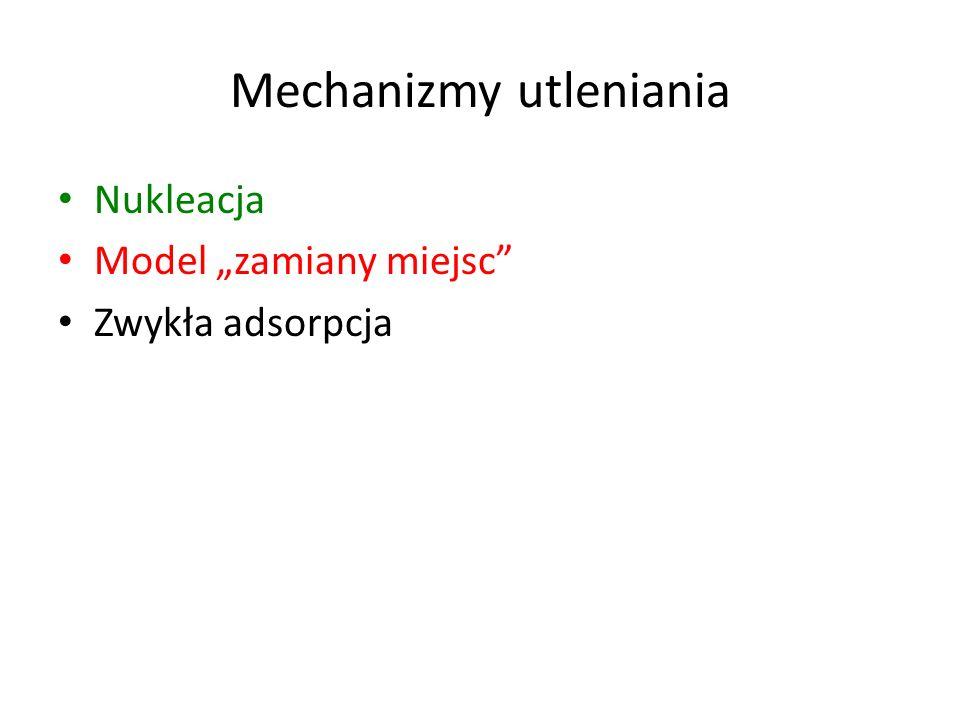 Mechanizmy utleniania Nukleacja Model zamiany miejsc Zwykła adsorpcja