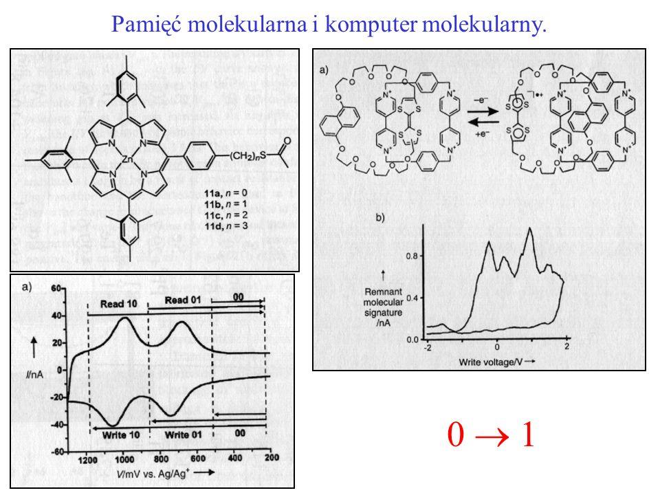 Pamięć molekularna i komputer molekularny. 0 1