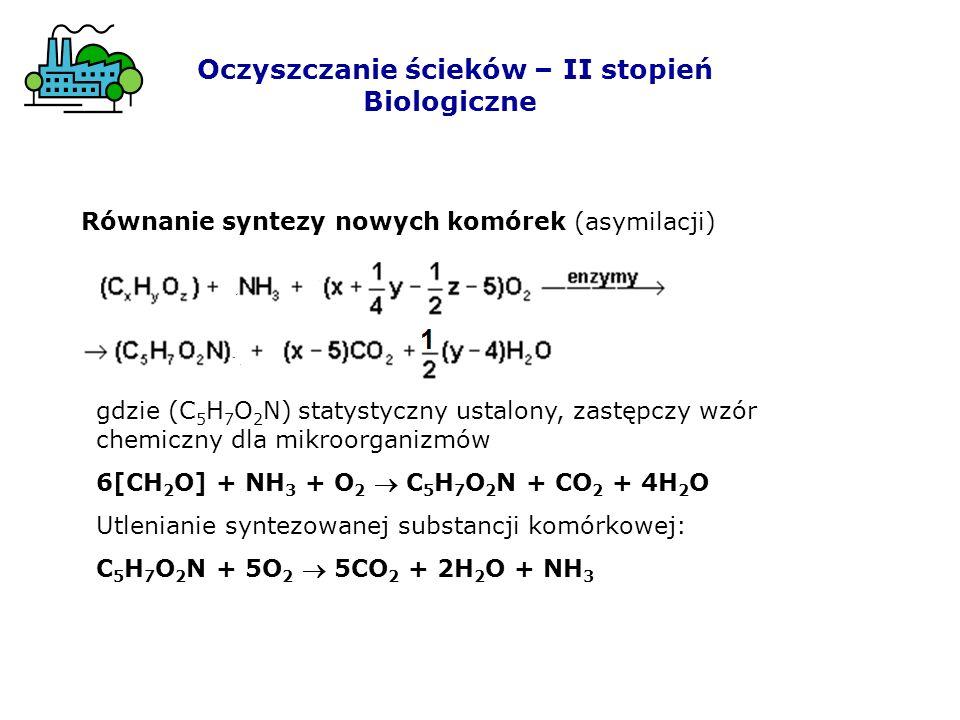 2.Nitryfikacja, czyli utlenienie NH 3 za pomocą bakterii Nitrosomonas do azotynów, a następnie za pomocą bakterii Nitrobacter do azotanów NH 3 + 2O 2 H + + NO 3 - + H 2 O Oczyszczanie ścieków – II stopień Biologiczne
