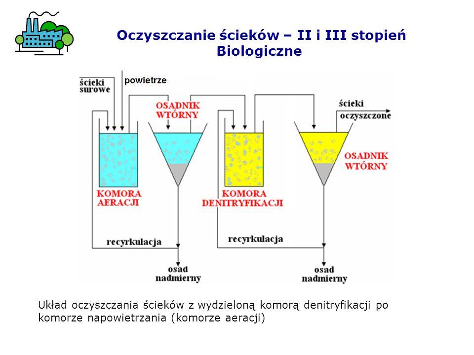 Biologiczne oczyszczanie ścieków zachodzi w: komorach napowietrzania z osadem czynnym, na złożach biologicznych, glebie stawach biologicznych (stabilizacyjnych, napowietrzanych, rybnych).
