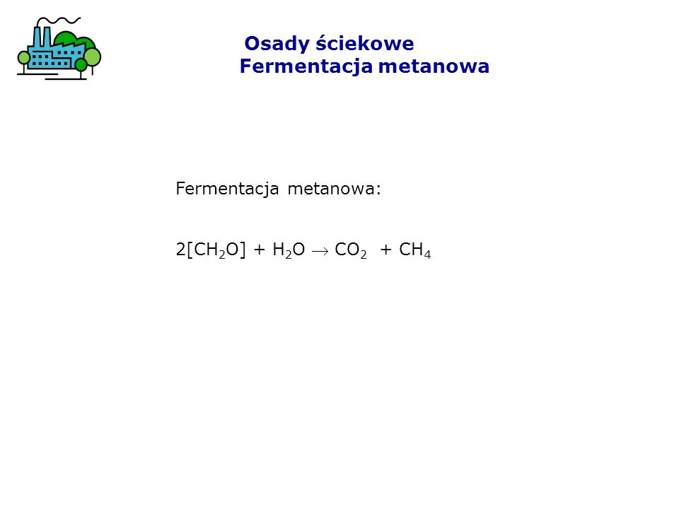 Osady ściekowe Fermentacja metanowa Skład biogazu