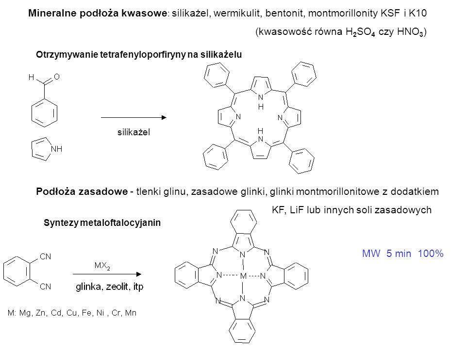 Przykłady na polimerach i żywicach Otrzymywanie heterocykli z zastosowaniem β–ketoestrów na polimerze Otrzymywanie peptydów – synteza w fazie stałej na żywicy Chemia kombinatoryczna – przykład pojedynczej syntezy na celulozowej membranie Synteza zbioru wielu związków w 3-15 min