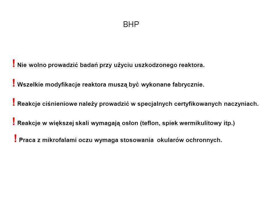 Ograniczenia – BHP- wpływ mikrofal na organizmy O K O