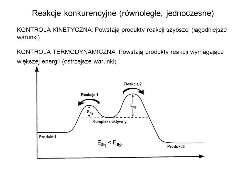 Energia aktywacji a efekt mikrofalowy mała wartość E a duża wartość E a małe zmiany polarności duża zmiana polarności od stanu podstawowego do stanu przejściowego słaby efekt mikrofalowy silny efekt mikrofalowy 8 produkty