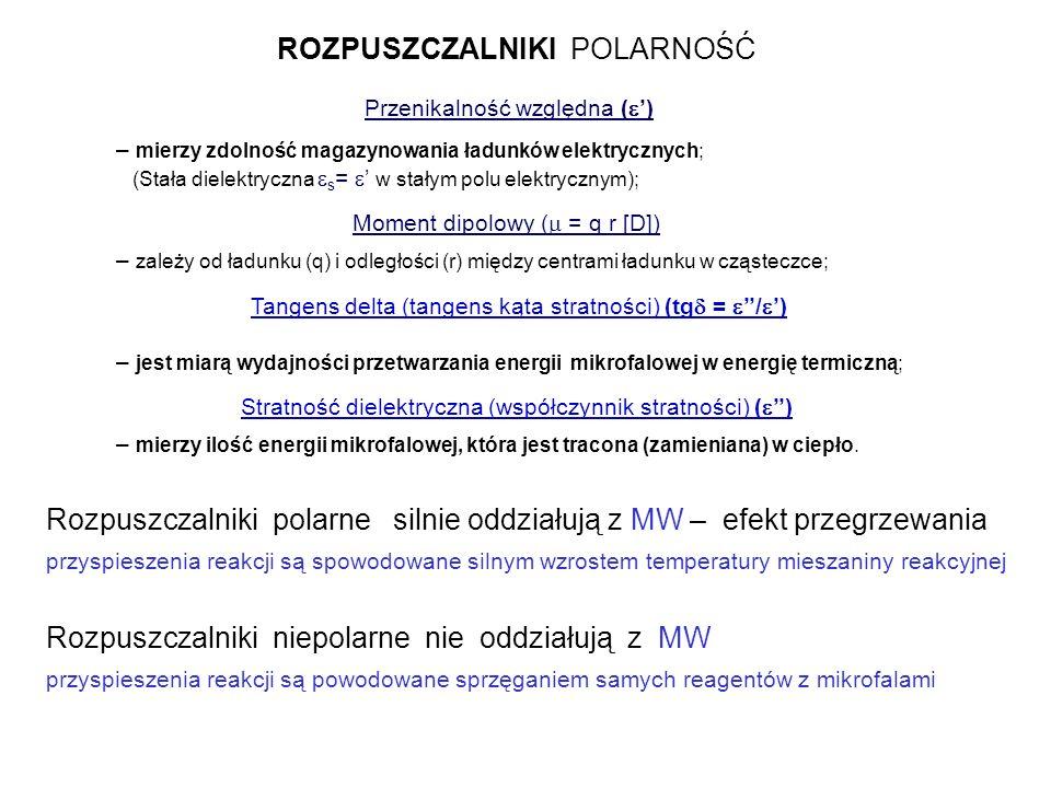 CHARATERYSTYKA NIEKTÓRYCH ROZPUSZCZALNIKÓW Rozpuszczalnik t.w.