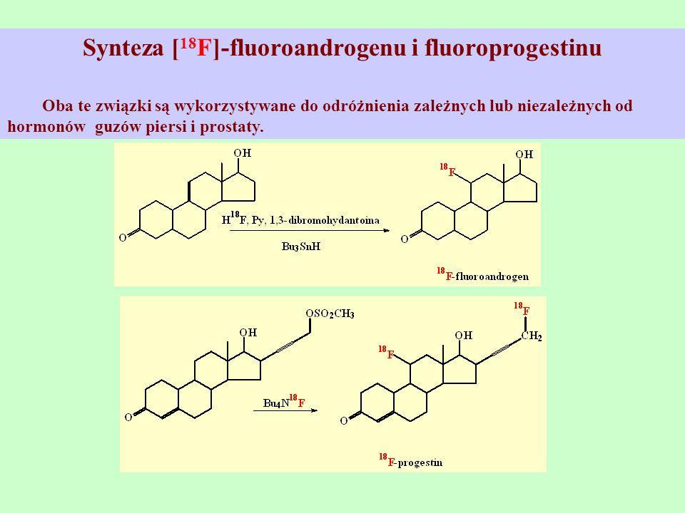 Synteza [ 18 F]-fluoroandrogenu i fluoroprogestinu Oba te związki są wykorzystywane do odróżnienia zależnych lub niezależnych od hormonów guzów piersi