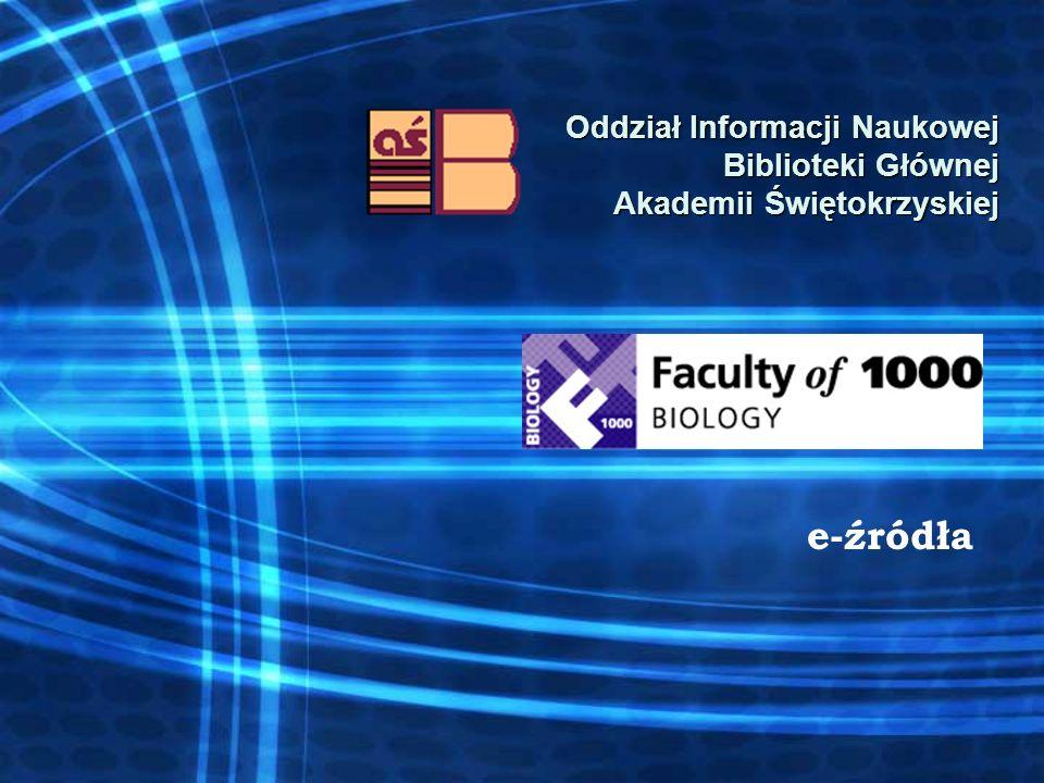 Oddział Informacji Naukowej Biblioteki Głównej Akademii Świętokrzyskiej e-źródła