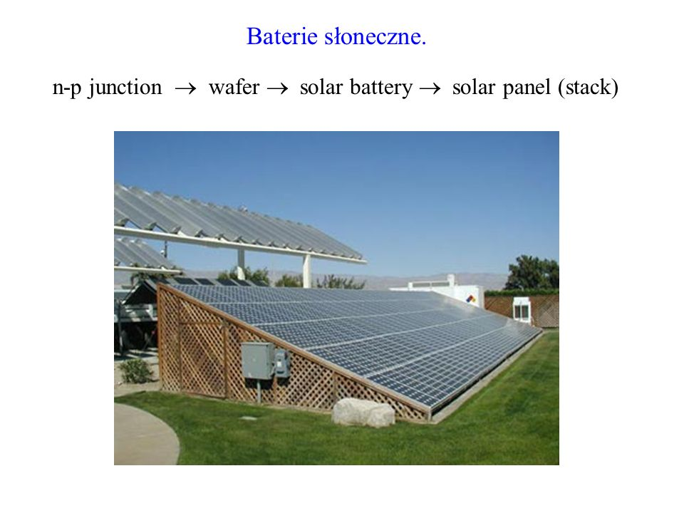 Baterie słoneczne. n-p junction wafer solar battery solar panel (stack)