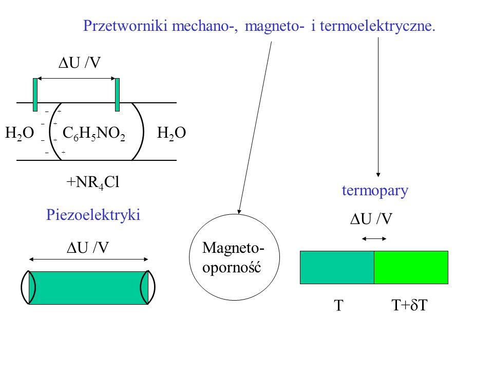 Przetworniki mechano-, magneto- i termoelektryczne.