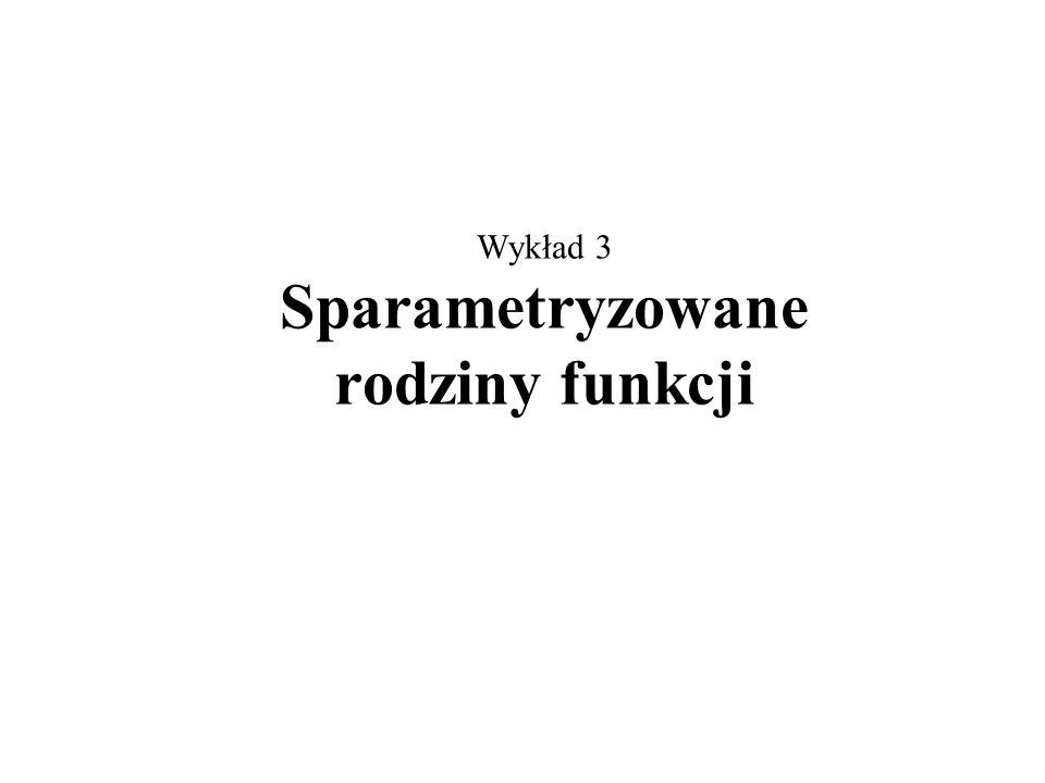 Wykład 3 Sparametryzowane rodziny funkcji