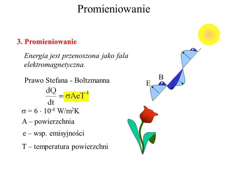 Konwekcja ciepła 2. Konwekcja naturalna: wynika z różnicy w gęstości wymuszona: substancja jest zmuszana do ruchu ( wiatrak, pompa) szybkość przepływu