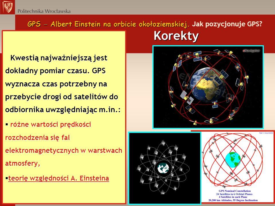 GPS Albert Einstein na orbicie okołoziemskiej. Korekty GPS Albert Einstein na orbicie okołoziemskiej. Jak pozycjonuje GPS? Korekty Kwestią najważniejs