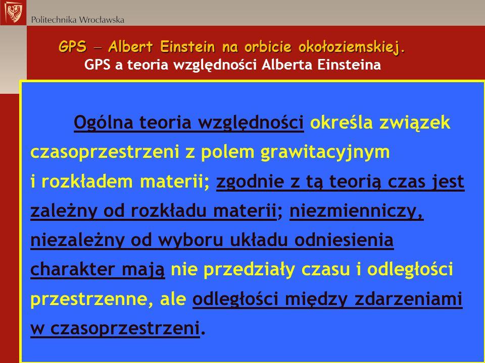 GPS Albert Einstein na orbicie okołoziemskiej. GPS Albert Einstein na orbicie okołoziemskiej. GPS a teoria względności Alberta Einsteina Ogólna teoria
