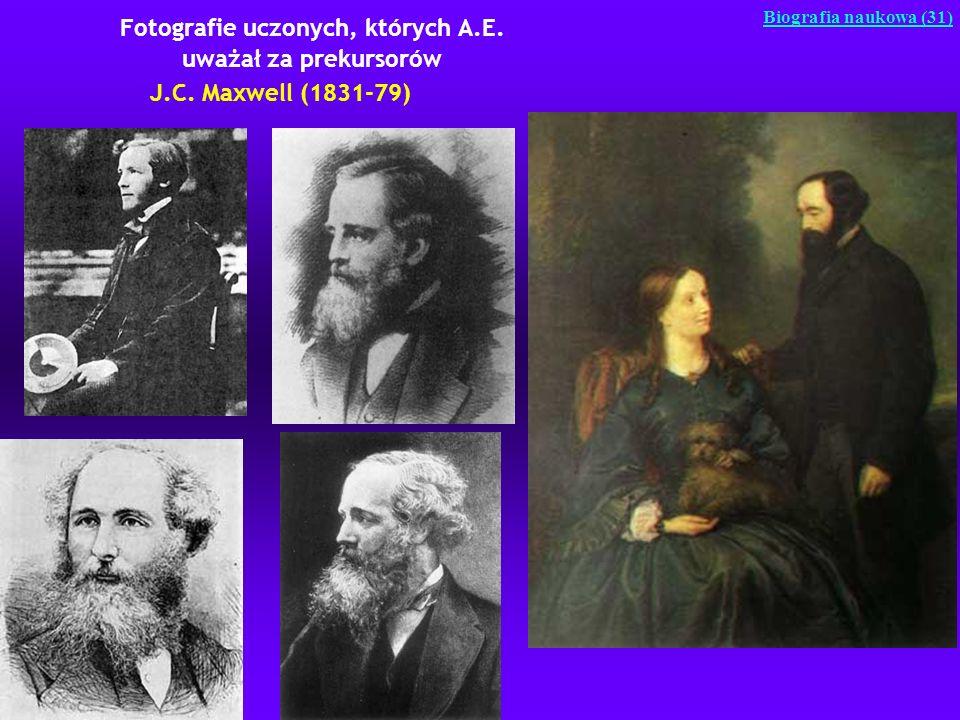 Fotografie uczonych, których A.E. uważał za prekursorów J.C. Maxwell (1831-79) Biografia naukowa (31)