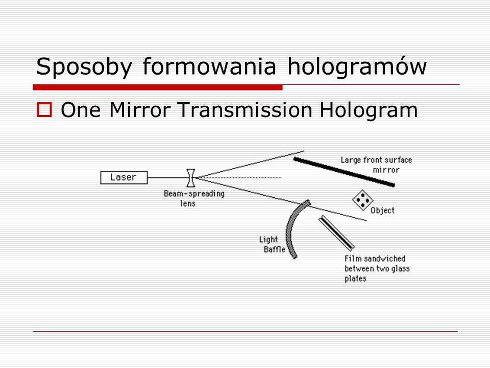 Sposoby formowania hologramów One Mirror Transmission Hologram
