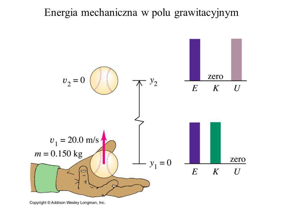 np. Energia potencjalna w polu grawitacyjnym przy powierzchni Ziemi: m W = - mg z x y z