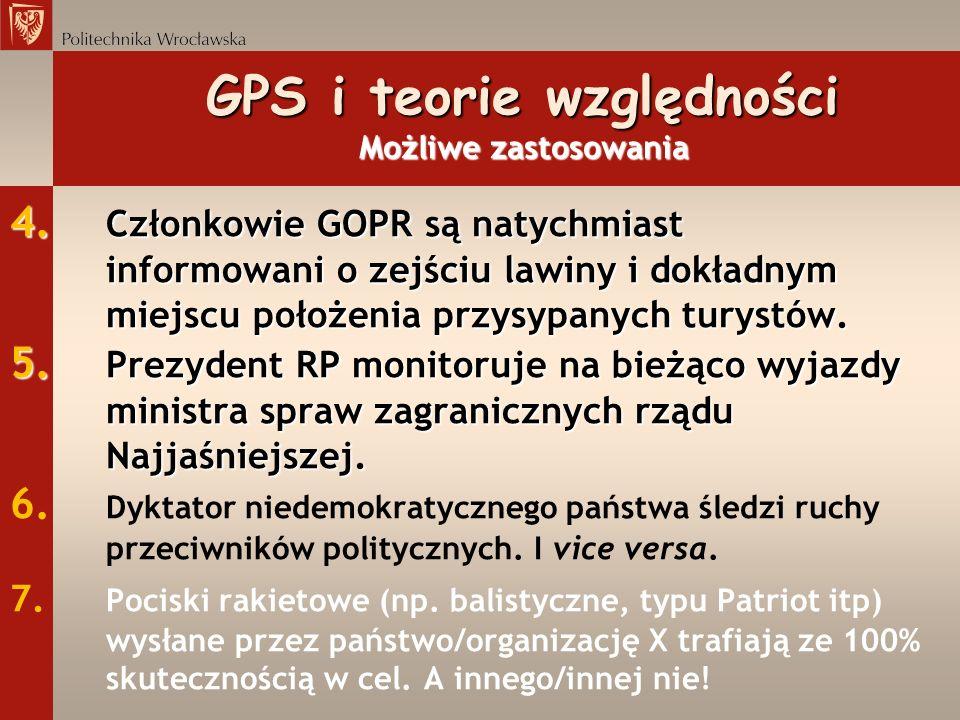 4. Członkowie GOPR są natychmiast informowani o zejściu lawiny i dokładnym miejscu położenia przysypanych turystów. 5. Prezydent RP monitoruje na bież