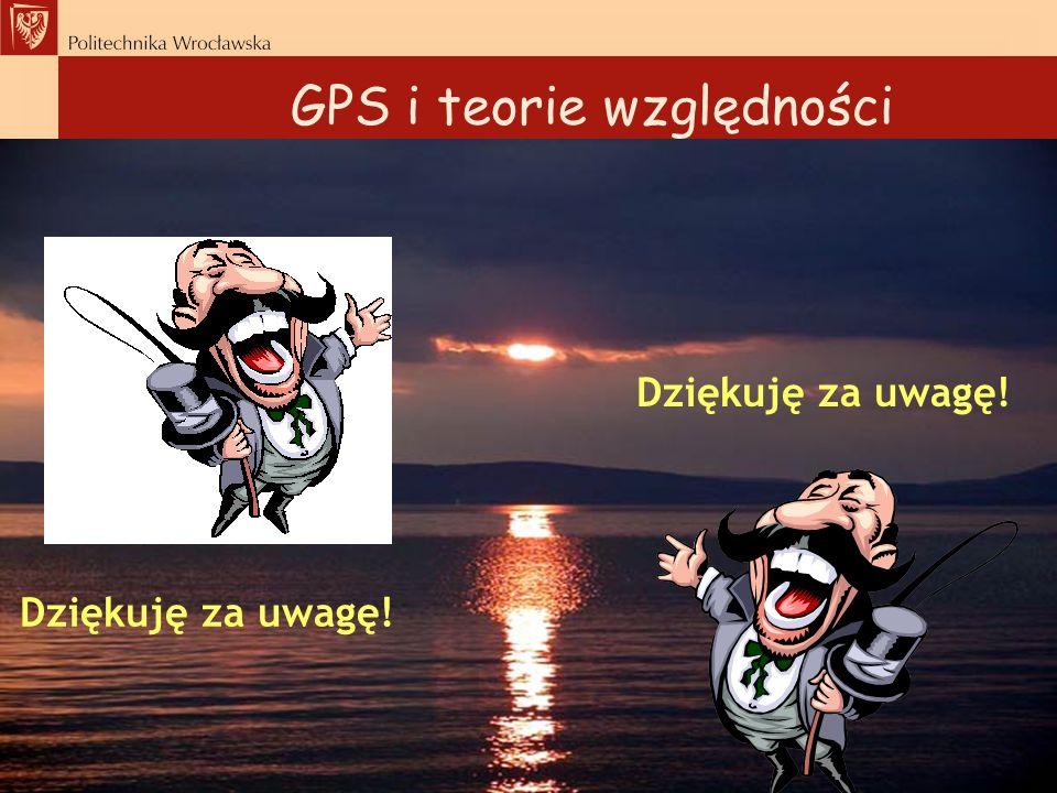 GPS i teorie względności Dziękuję za uwagę!