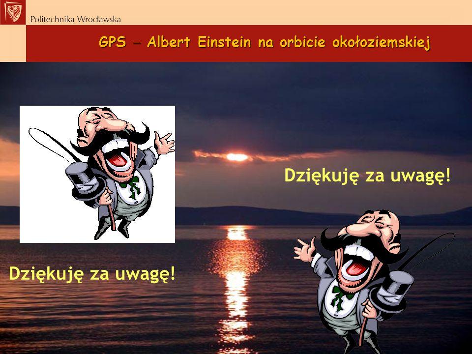 GPS Albert Einstein na orbicie okołoziemskiej Dziękuję za uwagę!