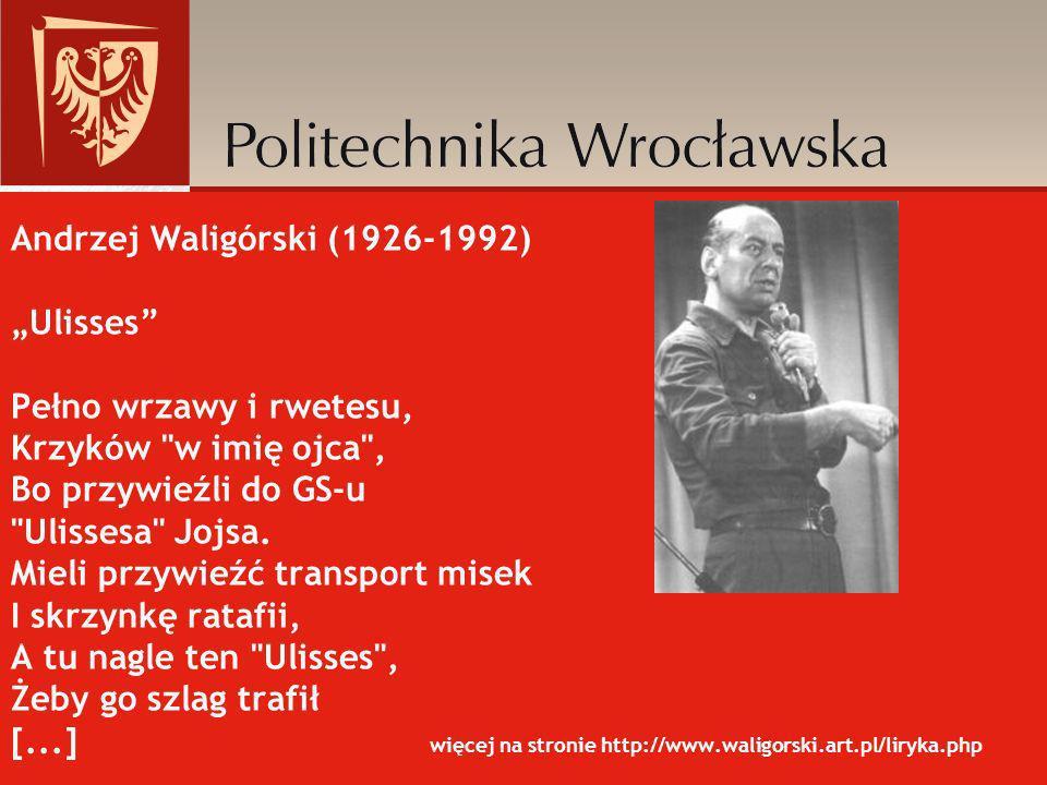 Andrzej Waligórski (1926-1992) Ulisses Pełno wrzawy i rwetesu, Krzyków
