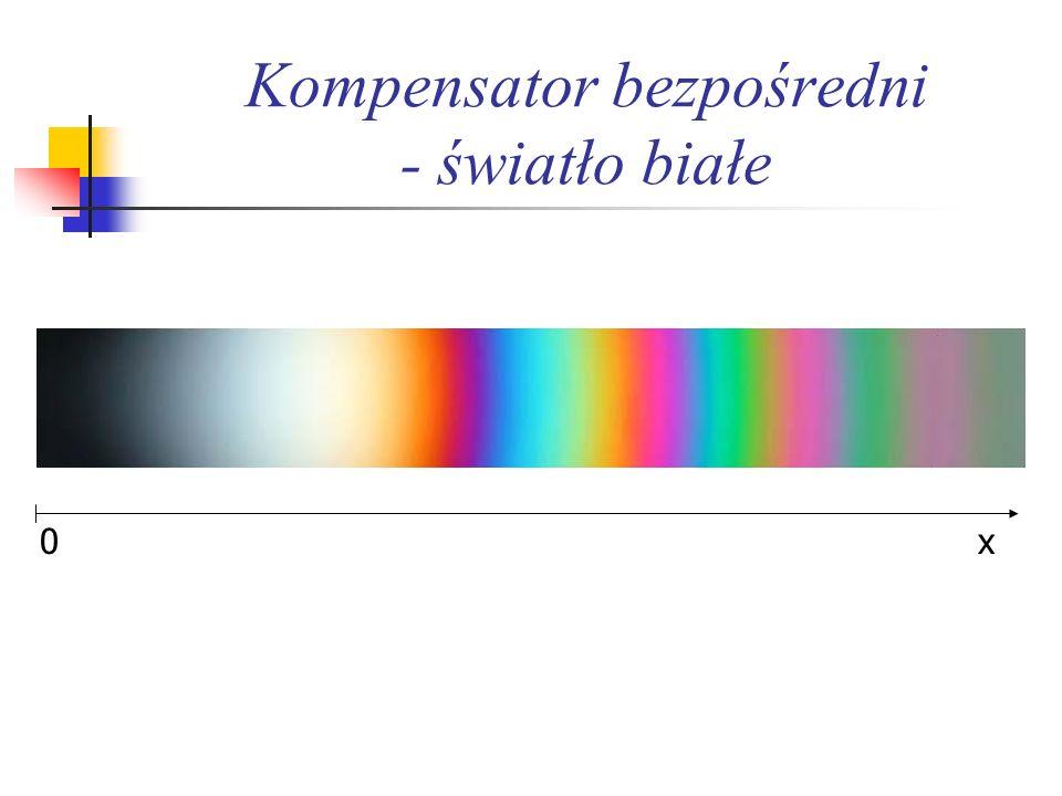 Kompensator bezpośredni - światło białe x0