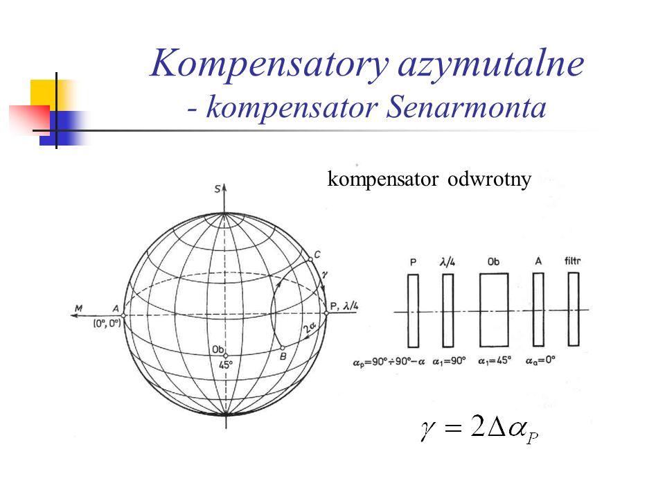 Kompensatory azymutalne - kompensator Senarmonta kompensator odwrotny