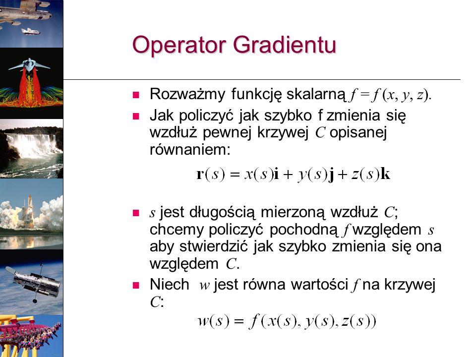 Rozważmy funkcję skalarną f = f (x, y, z).
