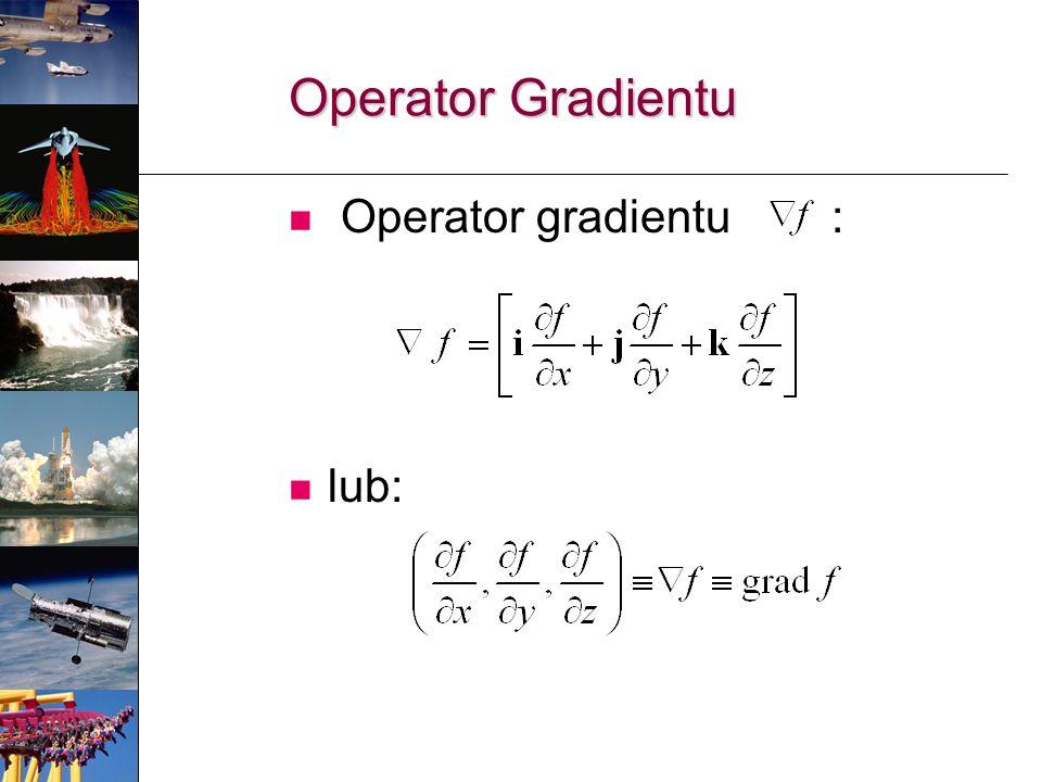 Operator gradientu : lub: