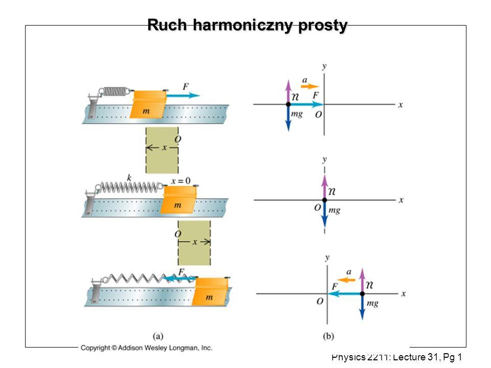 Physics 2211: Lecture 31, Pg 22 Okres (a)(b)(c) l Jaką długość powinno mieć wahadło matematyczne, aby miało tę samą częstość co wahadło fizyczne.