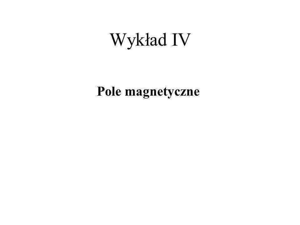 Wykład IV Pole magnetyczne
