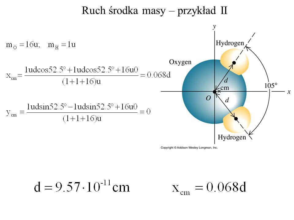 Ruch środka masy – przykład II