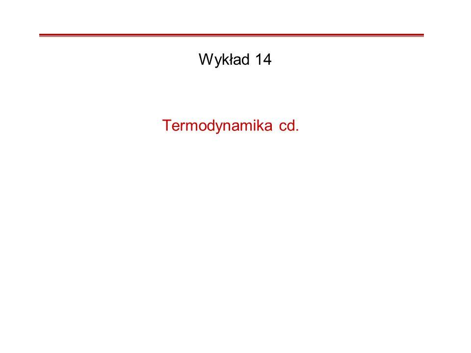 Termodynamika cd. Wykład 14