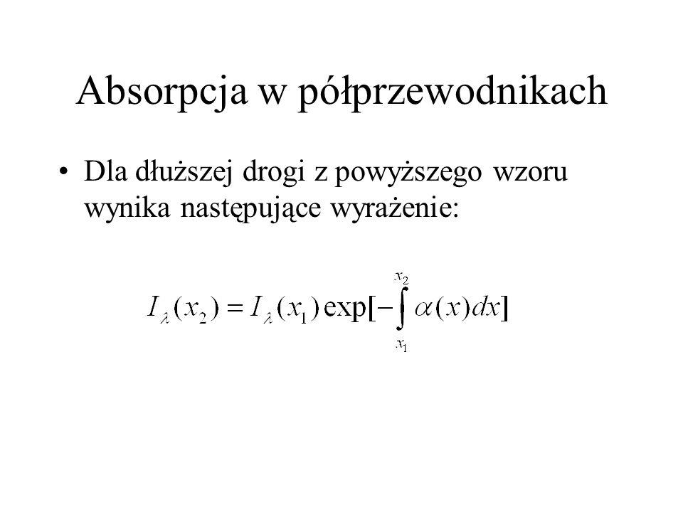 Gęstość stanów Dla elektronów swobodnych E = 2 k 2 /2m i dE = ( 2 k/m)dk stąd Każdemu stanowi k odpowiada stan o energii E.