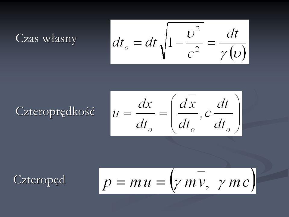 Energia spoczynkowa a energia kinetyczna Energia kinetyczna :
