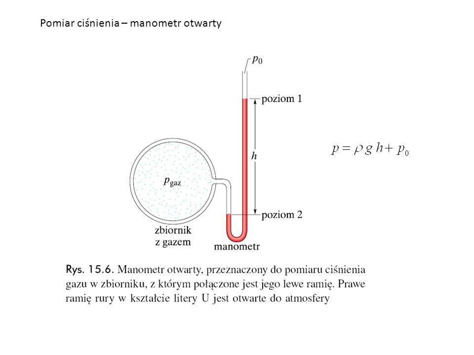 Pomiar ciśnienia – manometr otwarty