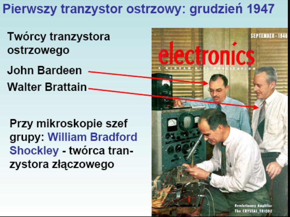 Charakterystyki U-I tranzystora npn w konfiguracji OE Prąd kolektora I C jest tu funkcją napięcia baza-emiter U BE.