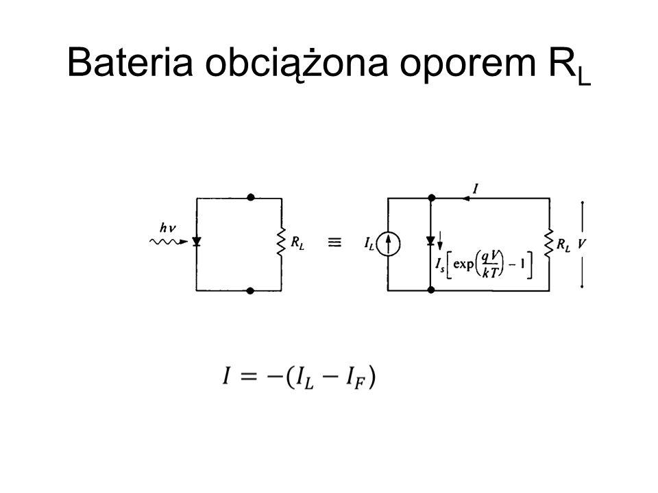 Bateria obciążona oporem R L