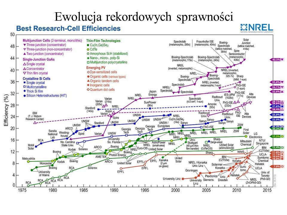 Ewolucja rekordowych sprawności