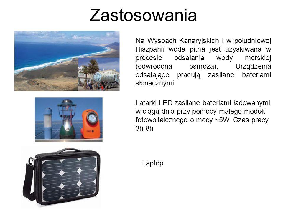 Zastosowania Na Wyspach Kanaryjskich i w południowej Hiszpanii woda pitna jest uzyskiwana w procesie odsalania wody morskiej (odwrócona osmoza). Urząd