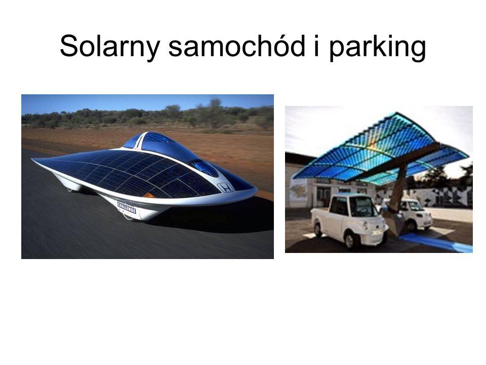 Solarny samochód i parking