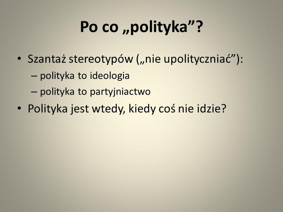 Po co polityka.